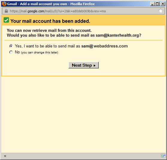 Gmail Your Account Has Been Added